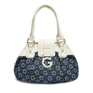 Navy & White G by Guess Calliah Tote